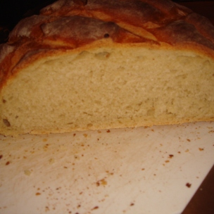 Paul Hollywood's cob - crumb
