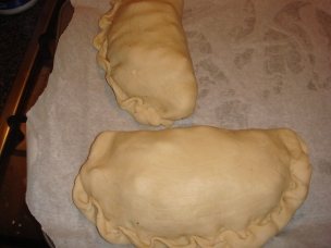 Enormous pasties, messy crimping