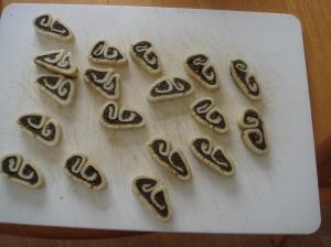 Za'atar palmiers before baking