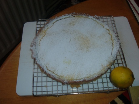 Uncut tarte - little bit of shrinking indicates the oven was running too