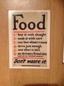 This postcard from the Imperial War Museum is affixed to my kitchen cupboards