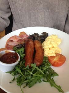A more modern take on Irish breakfast: see the rocket