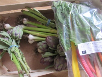 Seasonal, local vegetables from Farm Direct (see below)