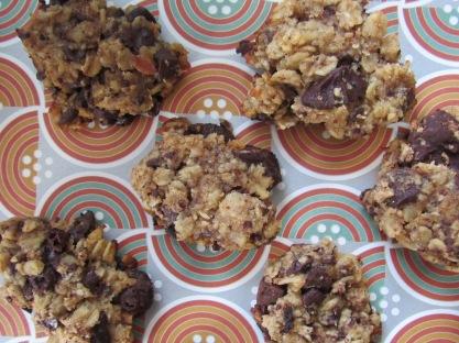 Healthy chocolate and banana cookie