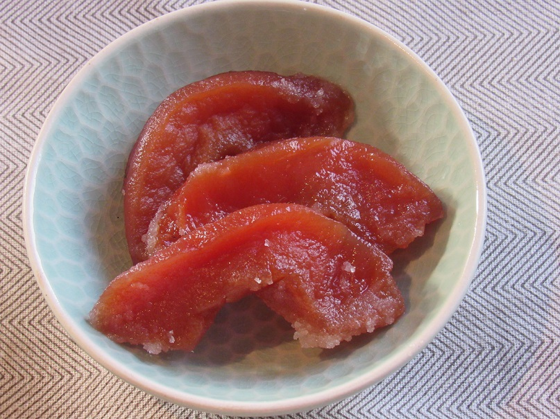 Candied quince slices