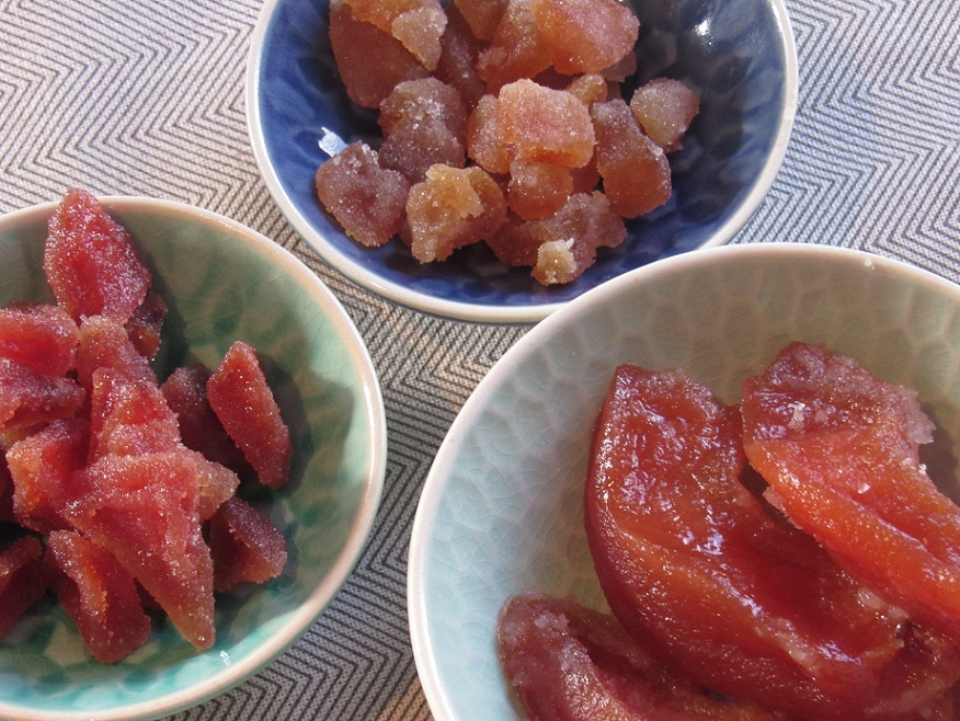 Candied quince trio