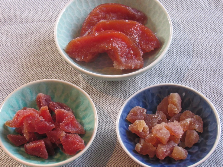 Candied quince, three ways