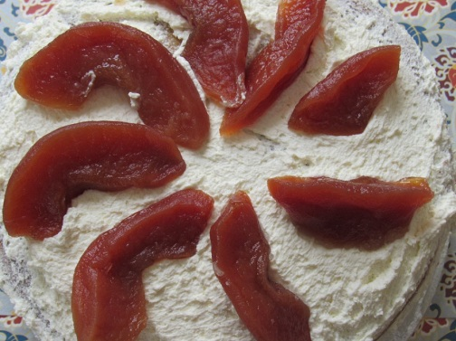 Candied quince spiral