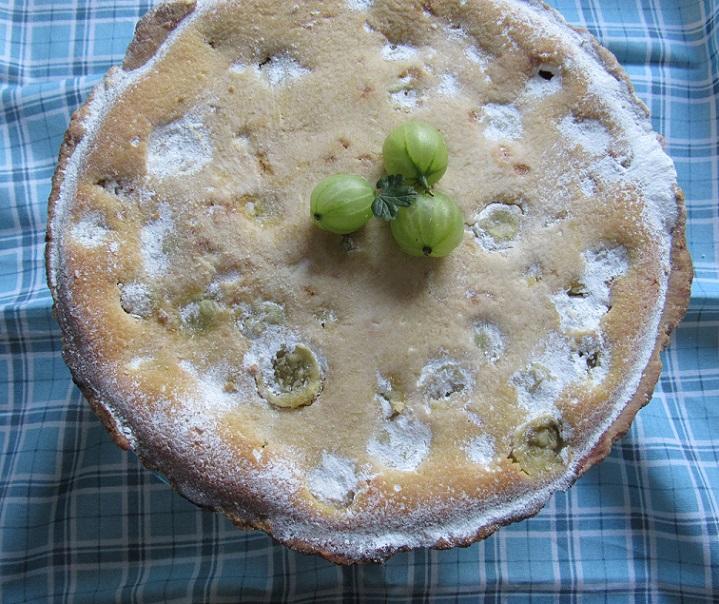Gooseberry almond tart