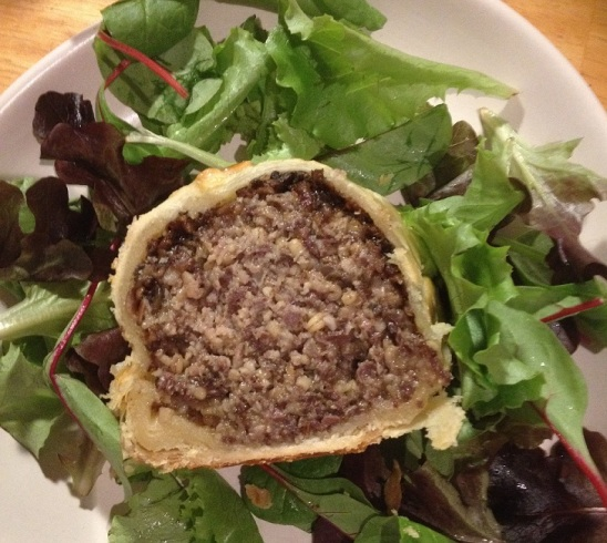 Slice of haggis wellington